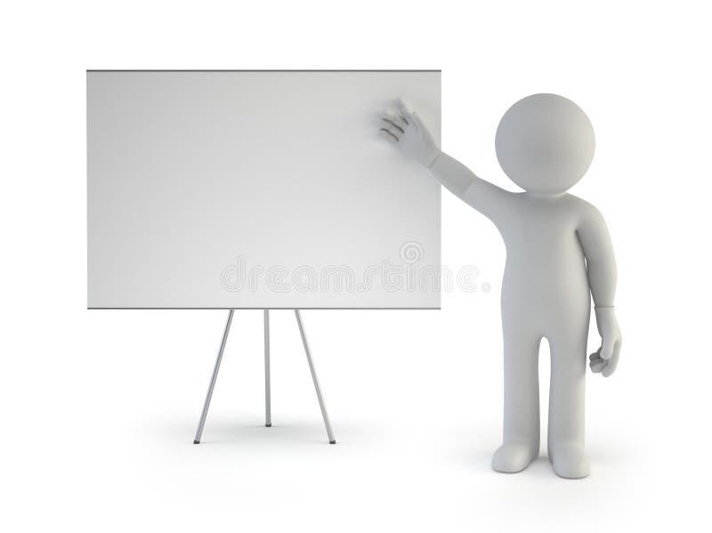 pequeña gente 3d - con el tablero vacío libre illustration
