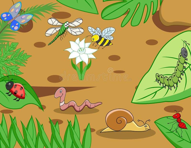 Pequeña historieta animal divertida stock de ilustración