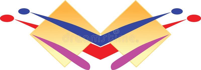 Pequeña insignia stock de ilustración