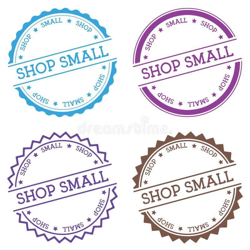 Pequeña insignia de la tienda aislada en el fondo blanco libre illustration