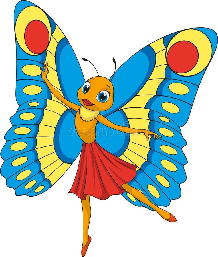 Pequeña mariposa hermosa stock de ilustración