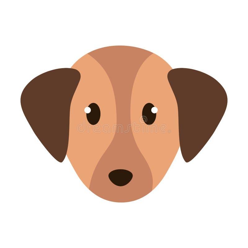 Pequeña mascota principal linda del perro libre illustration