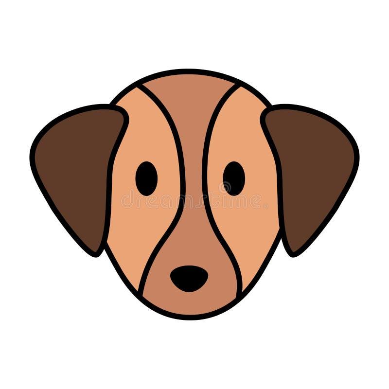 Pequeña mascota principal linda del perro ilustración del vector