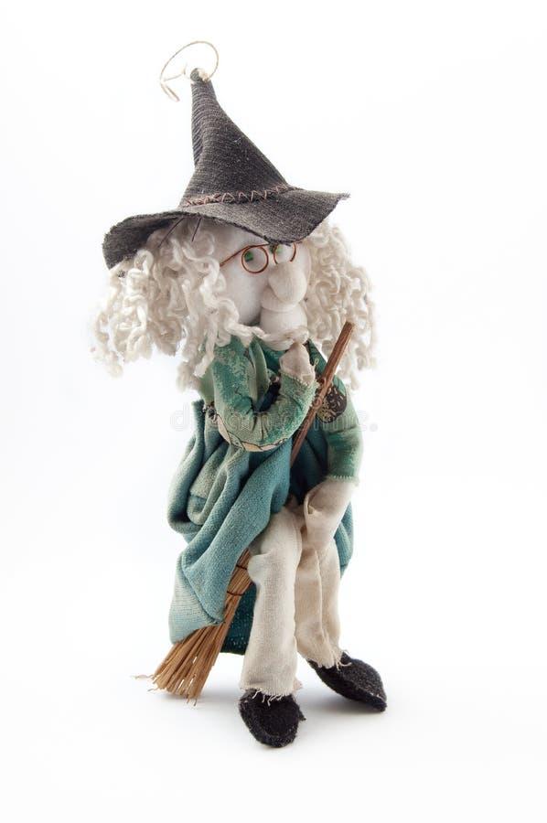 Pequeña muñeca de la bruja foto de archivo