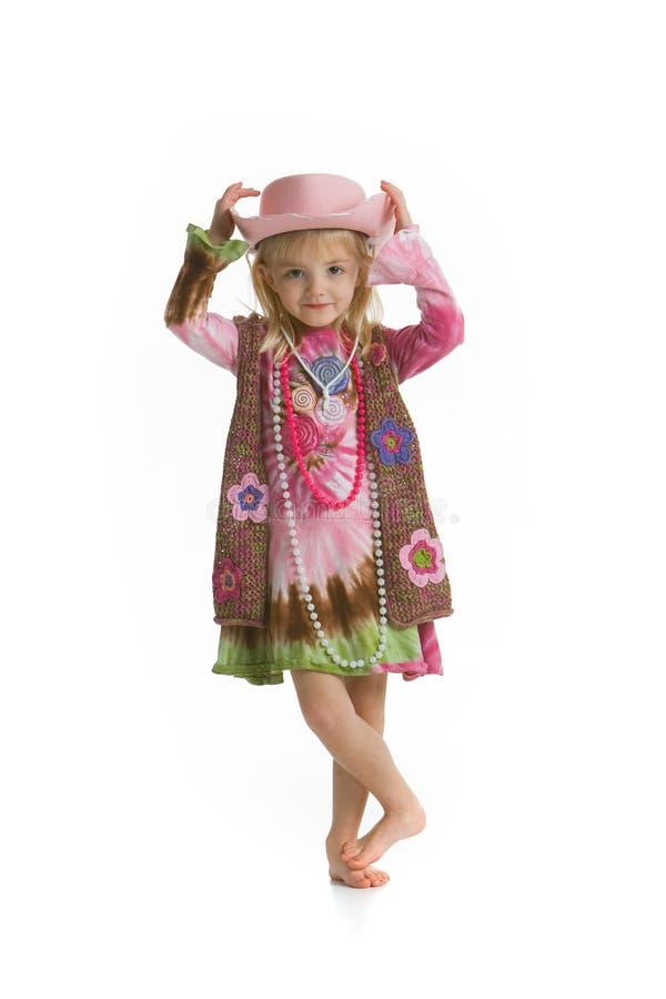 Pequeña muchacha de la vaca imagen de archivo libre de regalías
