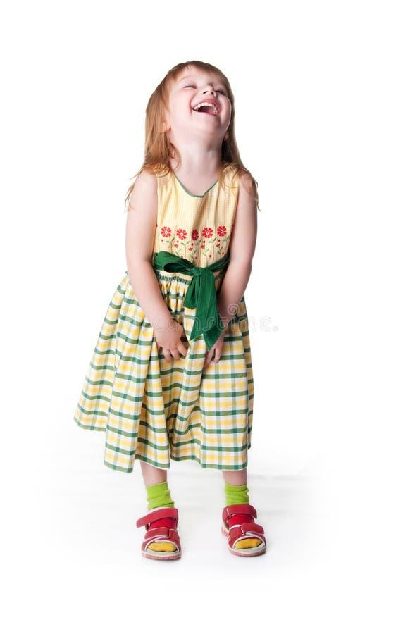 Pequeña muchacha de risa fotografía de archivo