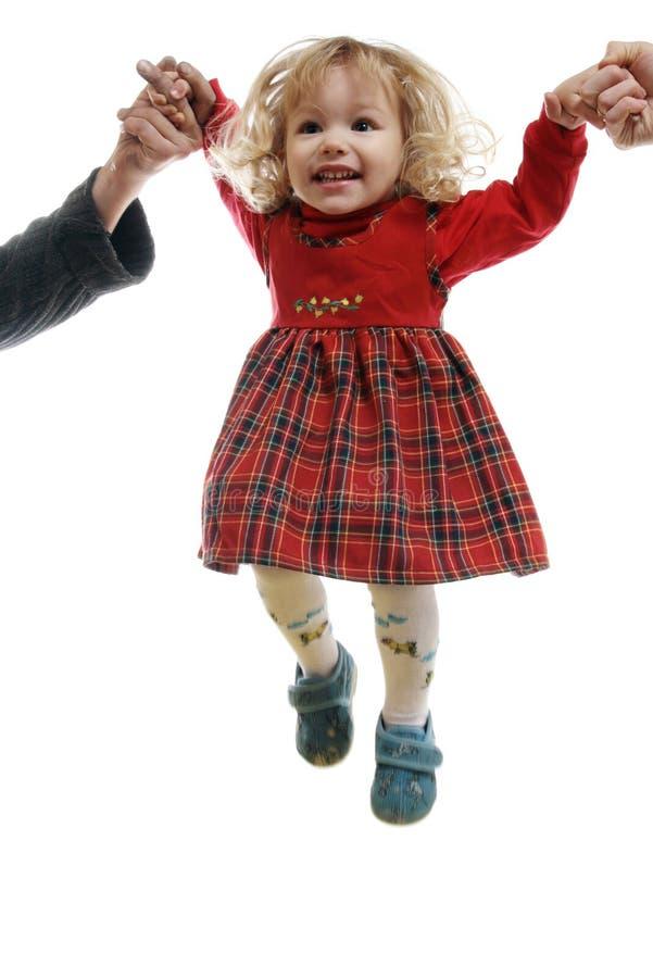 Pequeña muchacha de salto imagen de archivo
