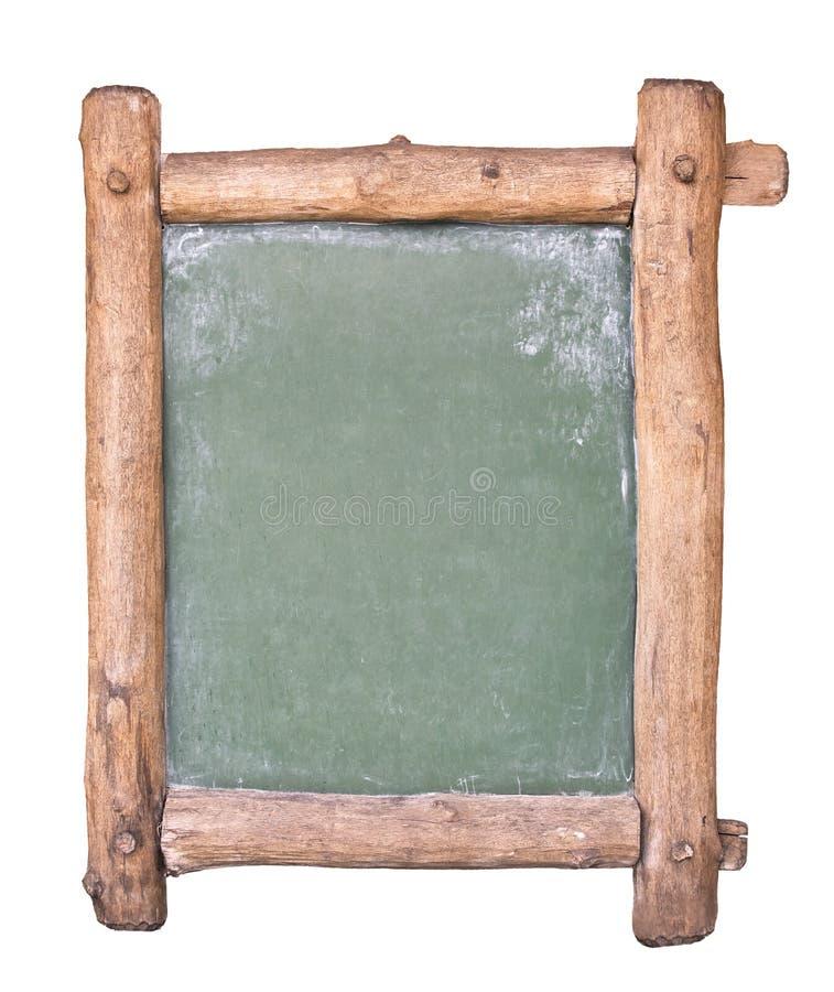 Pequeña pizarra con el marco de madera foto de archivo
