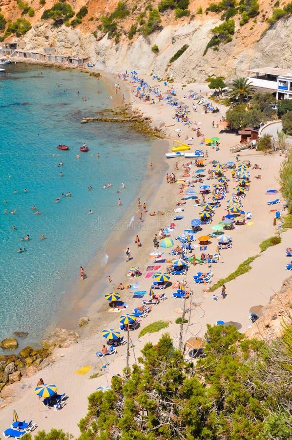 Pequeña playa en Ibiza, España fotografía de archivo libre de regalías