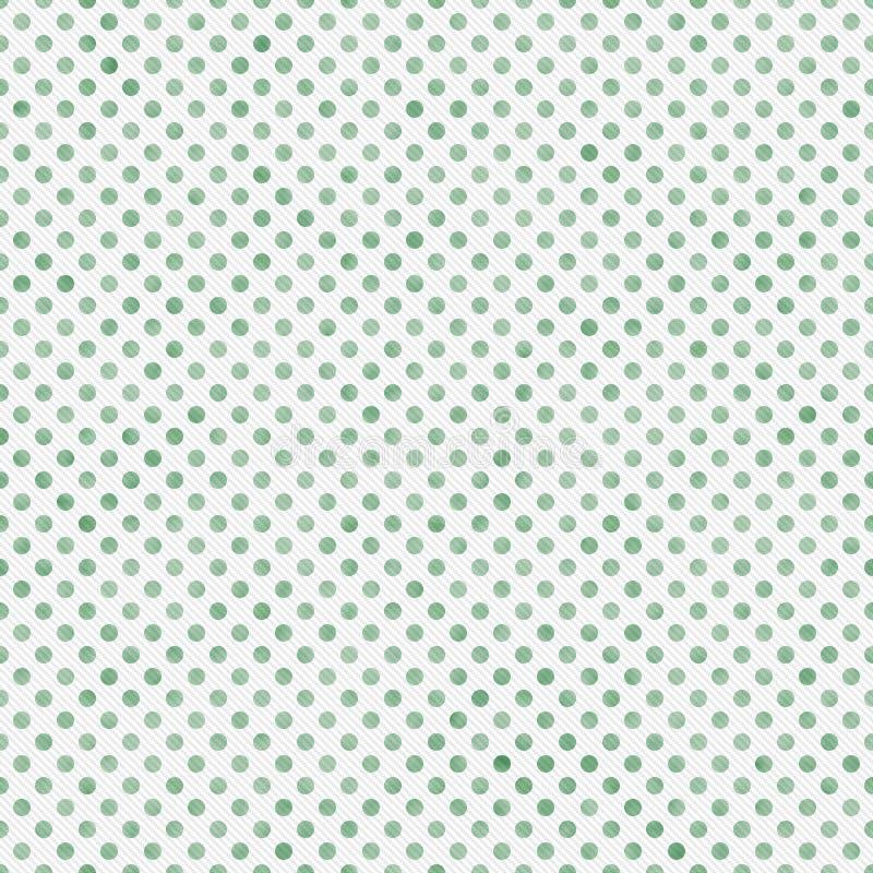 Pequeña polca verde clara y blanca Dots Pattern Repeat Background fotografía de archivo libre de regalías