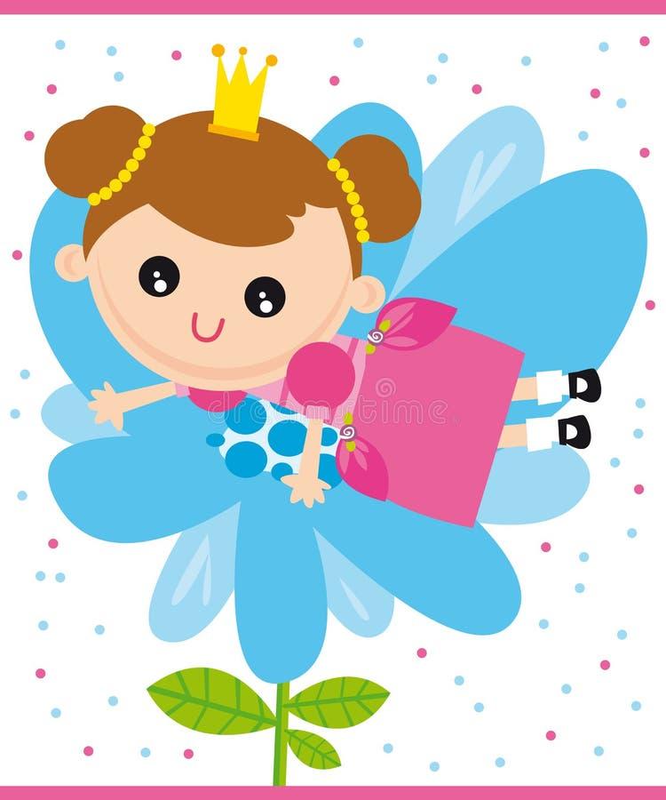 Pequeña princesa stock de ilustración