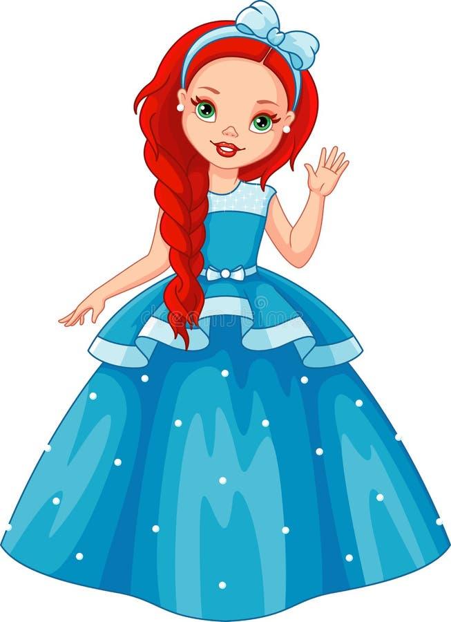 Pequeña princesa ilustración del vector