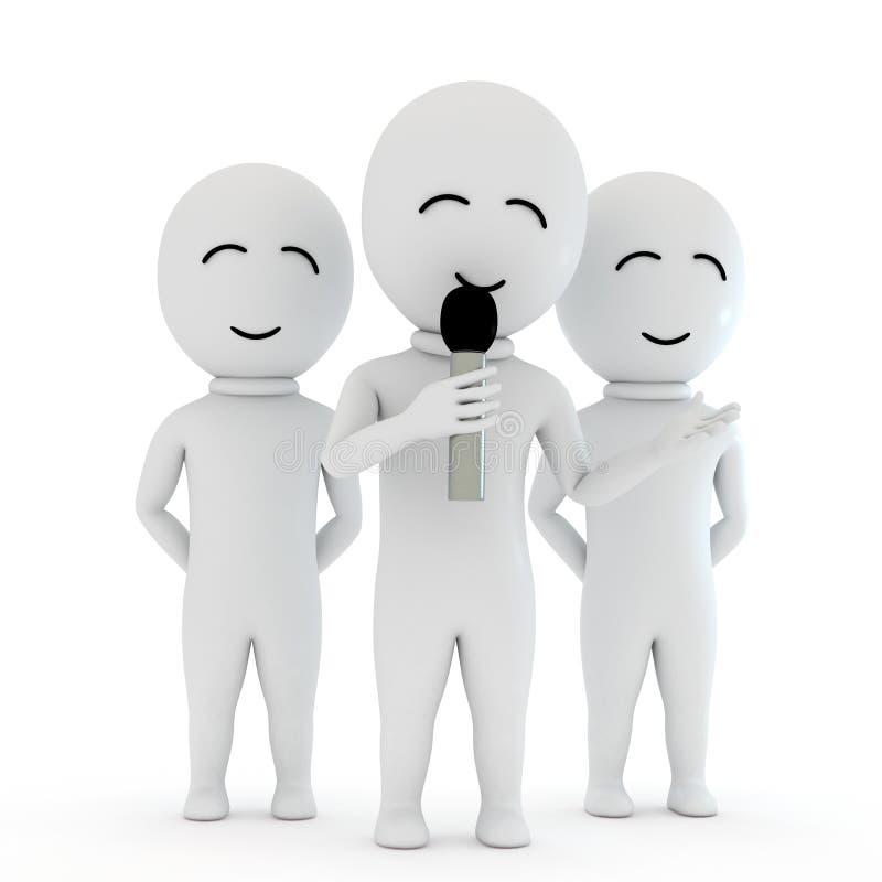 pequeña reunión de la gente 3d libre illustration