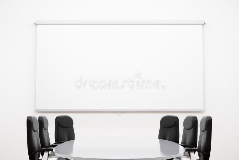 Pequeña sala de reunión stock de ilustración