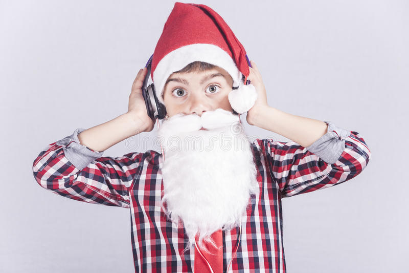 Pequeña Santa Claus divertida foto de archivo libre de regalías