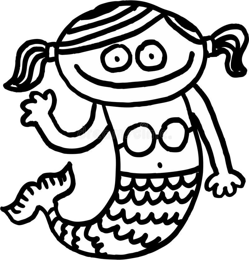 Pequeña sirena libre illustration