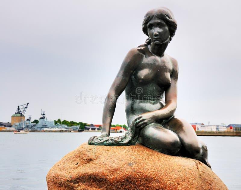Pequeña sirena, Copenhague, Dinamarca fotografía de archivo