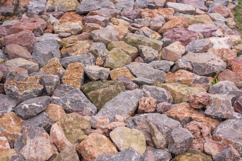 Pequeña textura colorida del fondo de las rocas fotografía de archivo