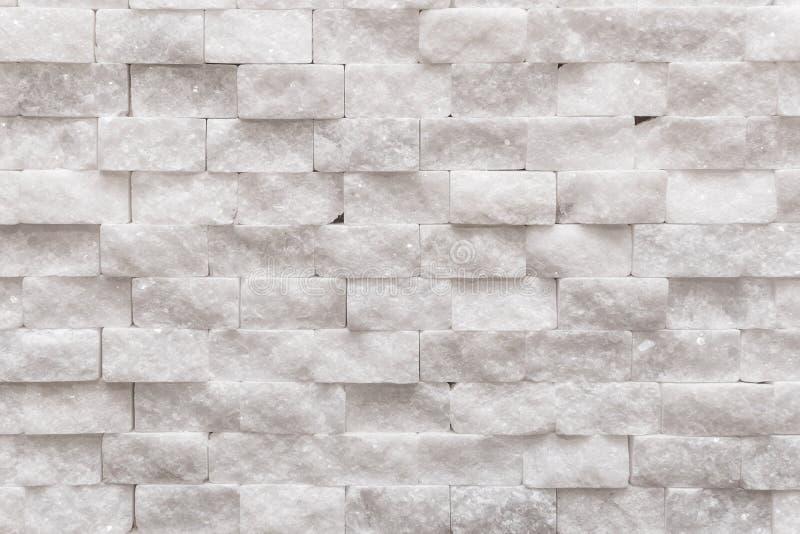 Pequeña textura de mármol del fondo del ladrillo de la pared decorativa moderna blanca imágenes de archivo libres de regalías
