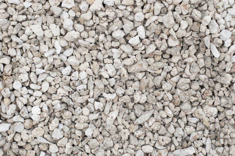Pequeña textura machacada de las piedras fotografía de archivo