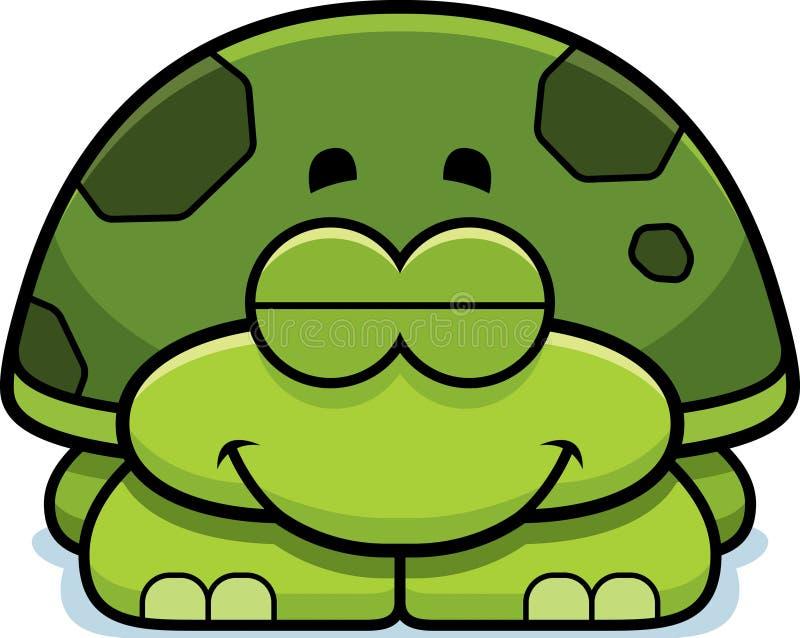 Pequeña tortuga el dormir stock de ilustración