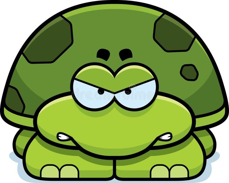 Pequeña tortuga enojada ilustración del vector