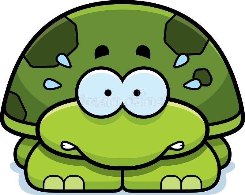 Pequeña tortuga nerviosa stock de ilustración