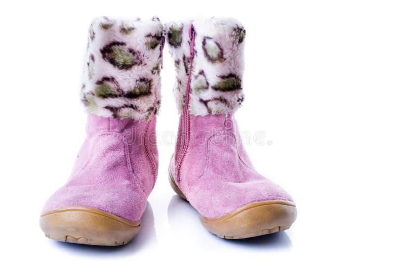 Pequeñas botas lindas del tobillo de los tacones altos imagen de archivo libre de regalías