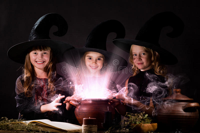 Pequeñas brujas imágenes de archivo libres de regalías