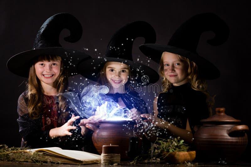 Pequeñas brujas foto de archivo libre de regalías