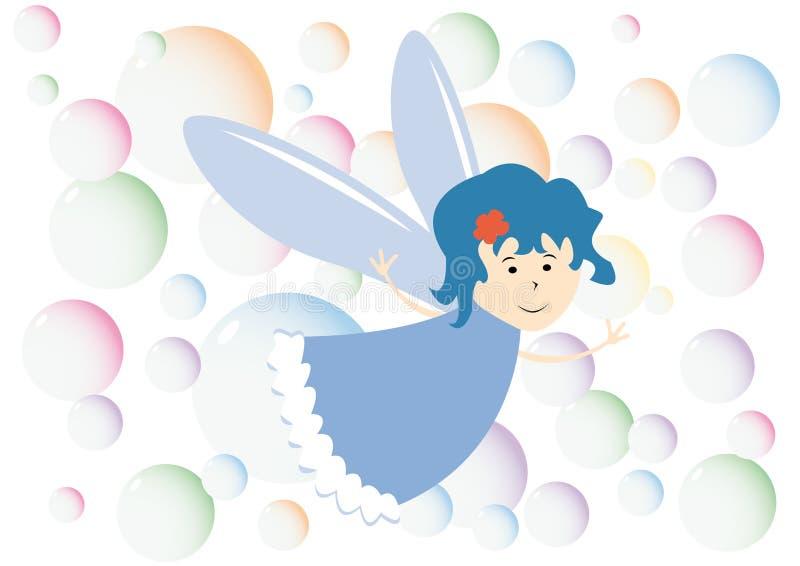 Pequeñas burbujas de la hada y del color ilustración del vector
