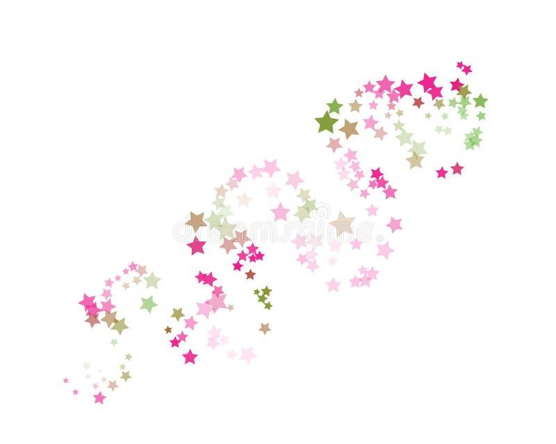 pequeñas estrellas del Centelleo-centelleo ilustración del vector