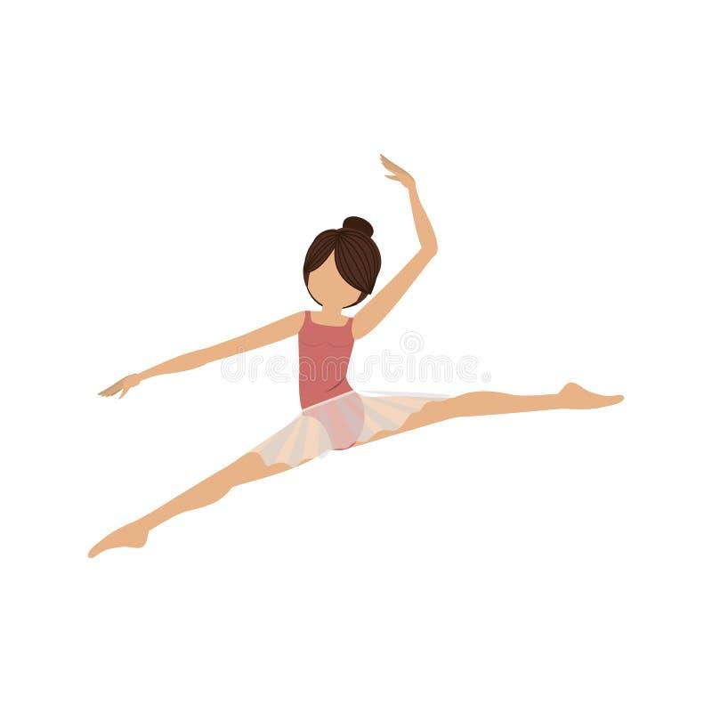 Pequeñas lanzas de la actitud colorida del bailarín stock de ilustración