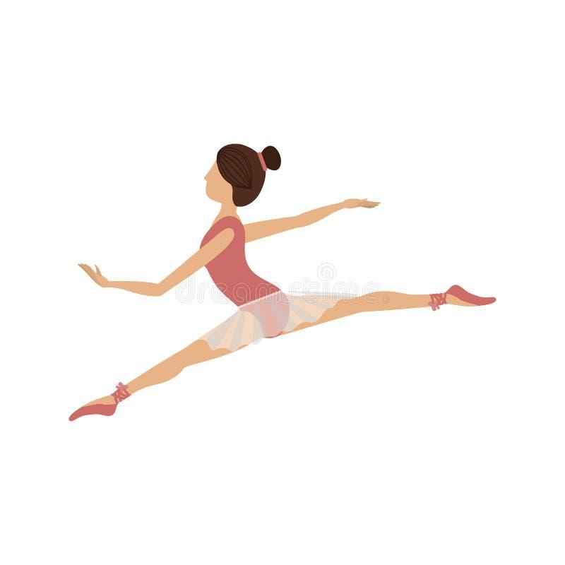 Pequeñas lanzas de la posición colorida del bailarín stock de ilustración