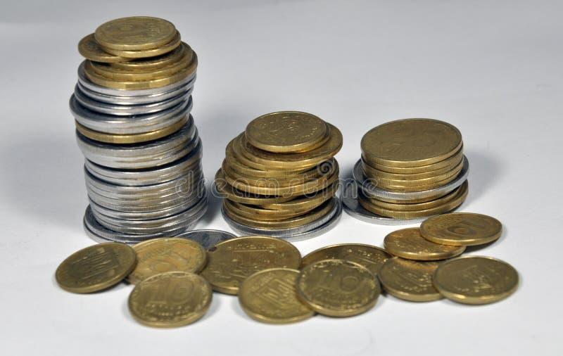 Pequeñas monedas ucranianas foto de archivo libre de regalías