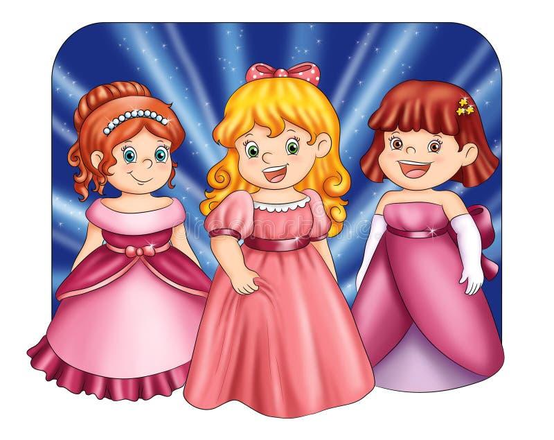 Pequeñas princesas fotos de archivo