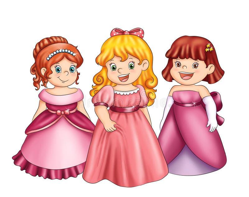 Pequeñas princesas foto de archivo
