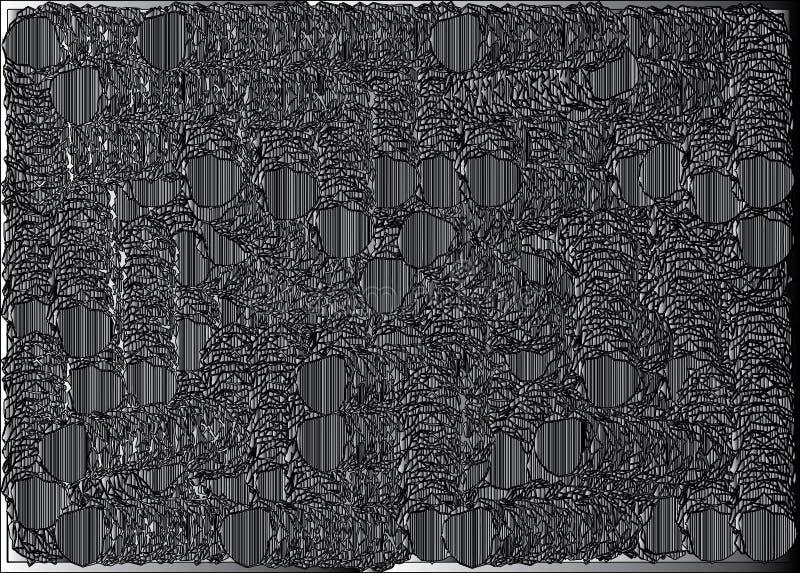 Pequeñas salchichas lindas en círculos ilustración del vector