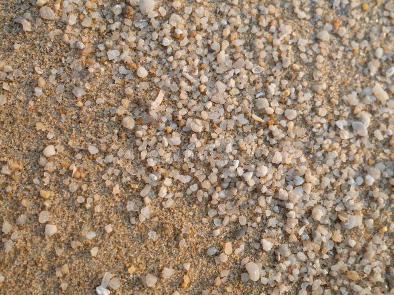 Peque?as superficies de la arena y de la grava en la playa imagen de archivo