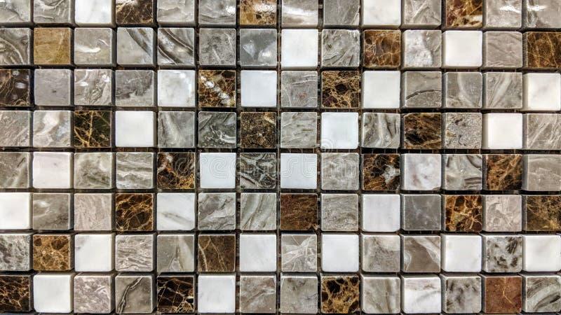Pequeñas tejas de mármol foto de archivo