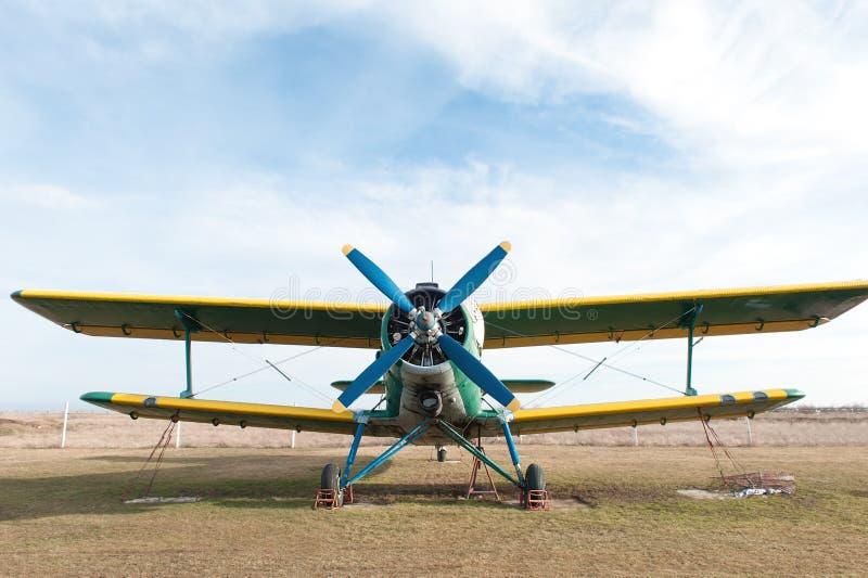 Pequeño aeroplano Foto del primer del propulsor imagen de archivo libre de regalías