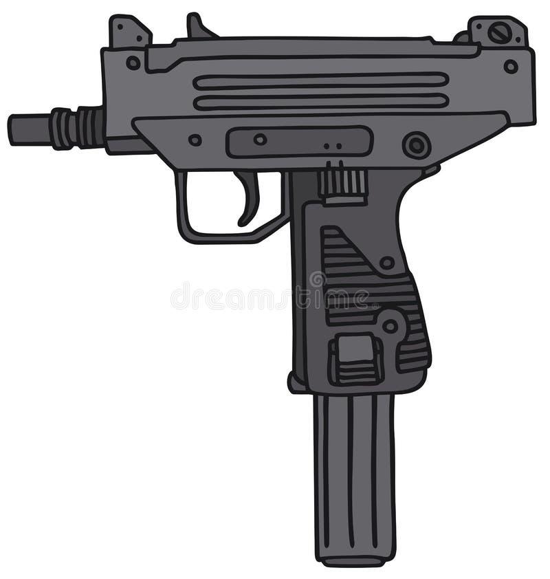 Pequeño arma automático ilustración del vector