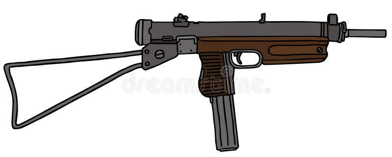Pequeño arma automático viejo libre illustration