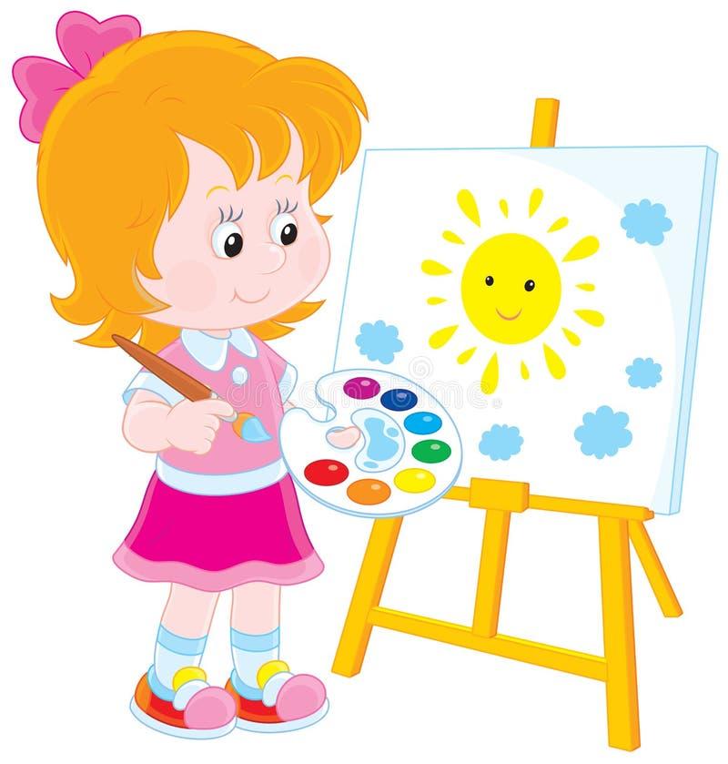Pequeño artista ilustración del vector
