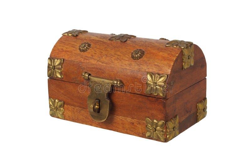 Pequeño ataúd de madera imagen de archivo libre de regalías