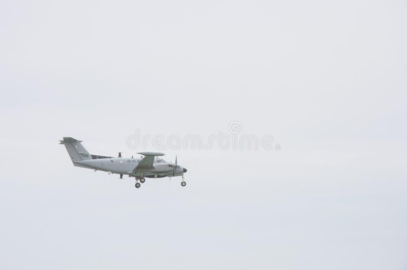 Pequeño aterrizaje o lanzamiento del jet privado foto de archivo libre de regalías