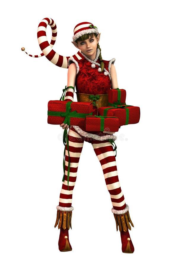 Pequeño ayudante Sophie CA, 3d CG de Santas ilustración del vector