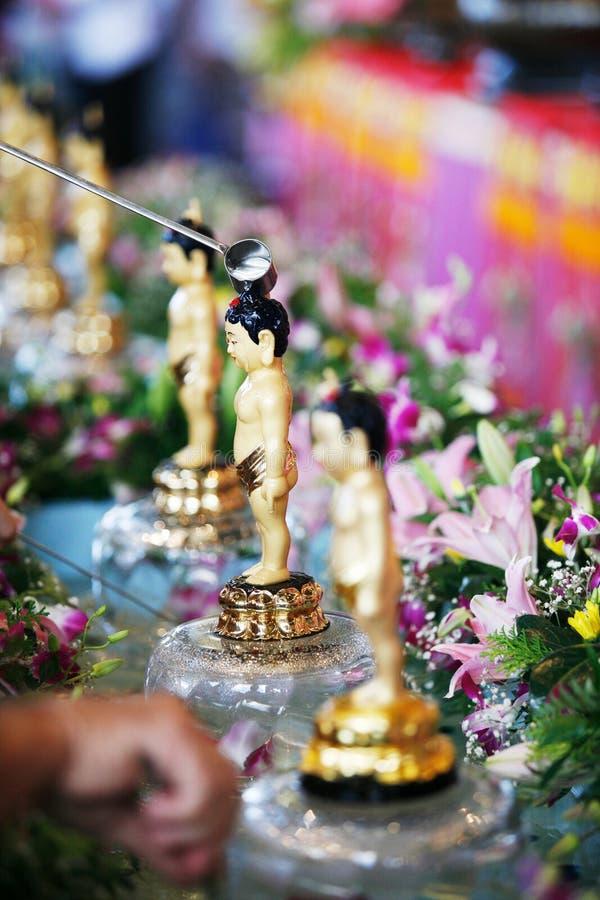 Pequeño baño de Buddha imágenes de archivo libres de regalías