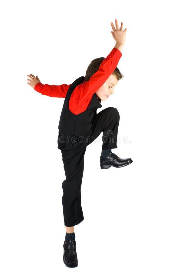 Pequeño bailarín con estilo imagen de archivo