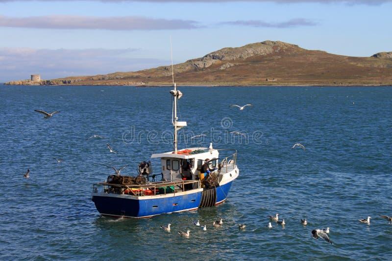 Pequeño barco de pesca Howth imágenes de archivo libres de regalías